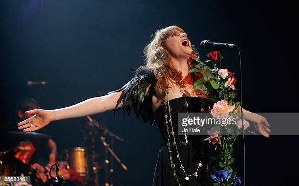 Florence Welch aka Florence And The Machine performs live on stage during the opening night of a series of concerts and events in aid of Teenage...