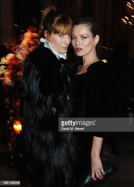 Florence Welch and Kate Moss attends the Alexander McQueen and Frieze Dinner to celebrate the Frieze Art Fair 2013 on October 17 2013 in London...