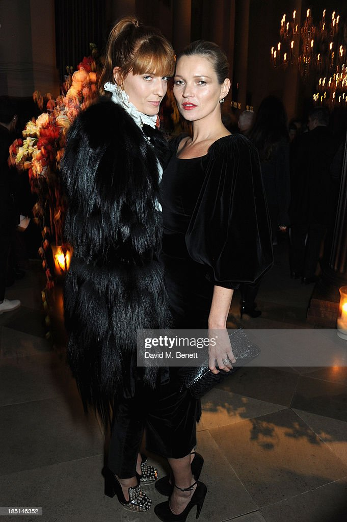 Florence Welch and Kate Moss attends the Alexander McQueen and Frieze Dinner to celebrate the Frieze Art Fair 2013 on October 17, 2013 in London, England.