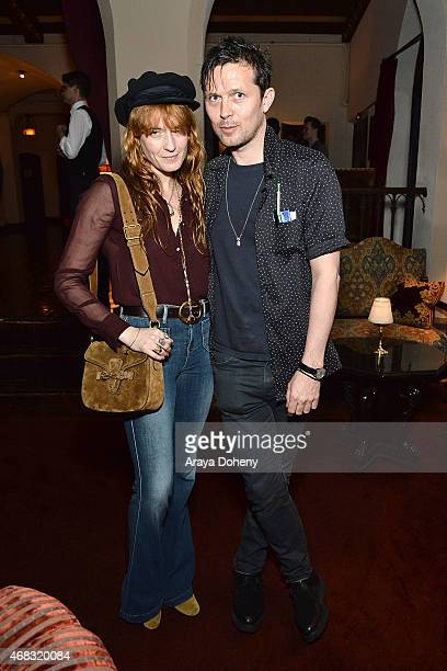 Florence Welch and Robert Montgomery attend a private cocktail party to celebrate the launch of With Love A Collection of Contemporary British Love...