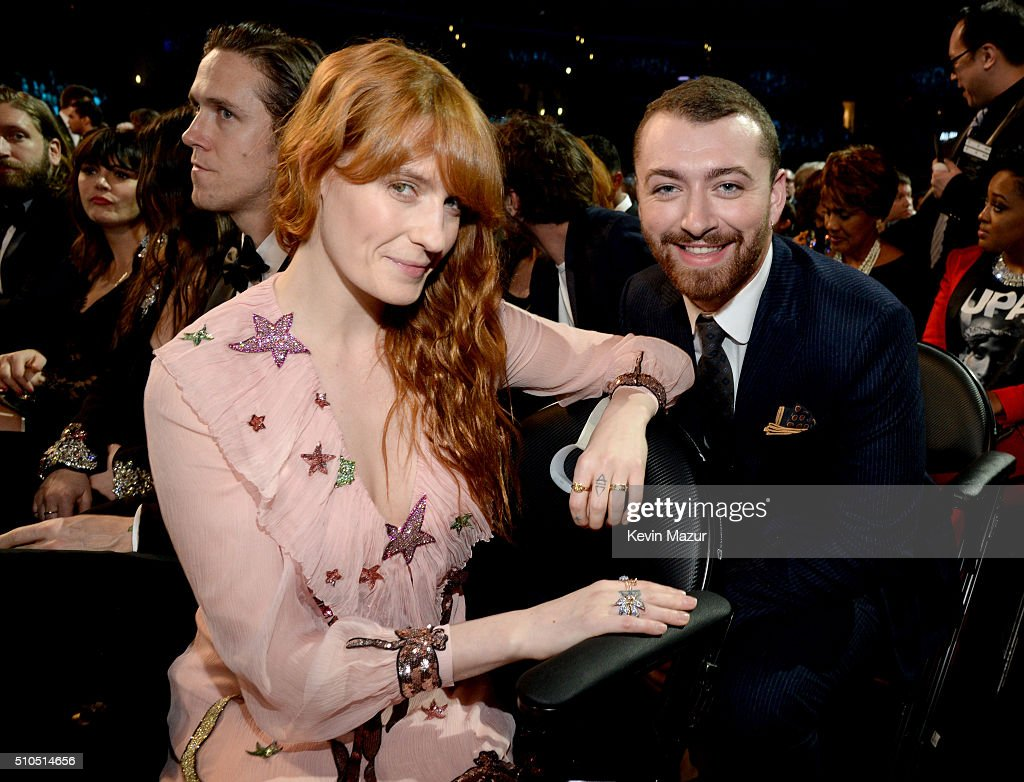 Florence Welch and Sam Smith attend The 58th GRAMMY Awards at Staples Center on February 15, 2016 in Los Angeles, California.