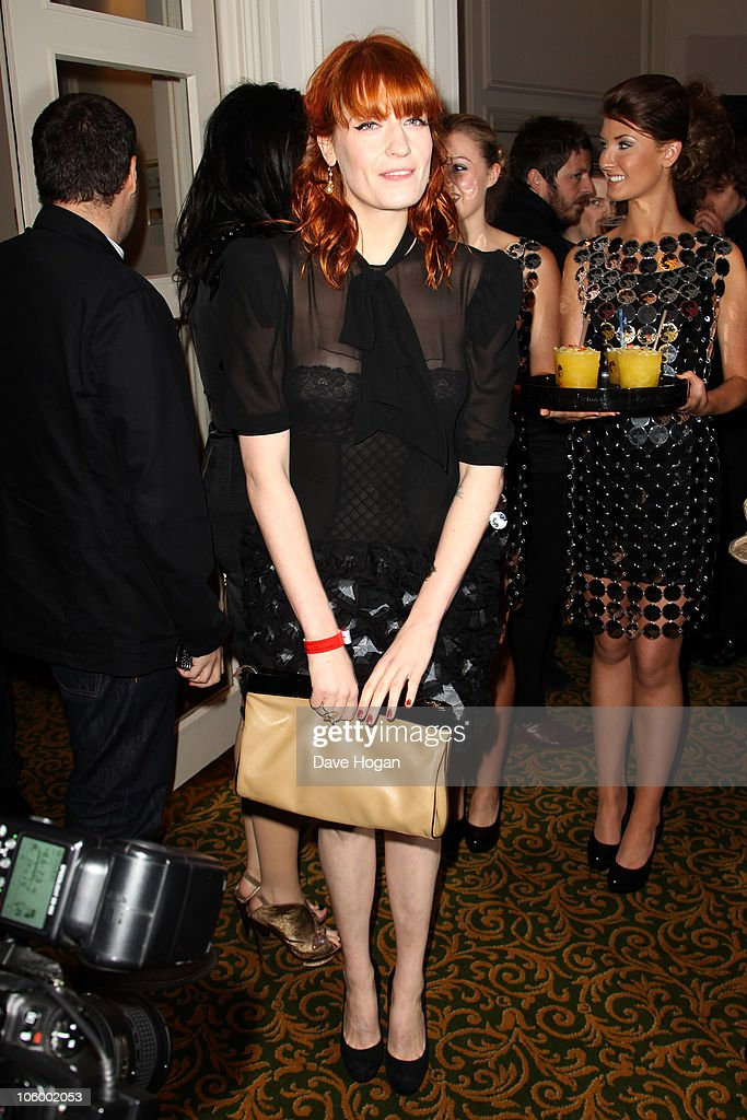 Florence Welch arrives at the Q Awards 2010 held at The Grosvenor House Hotel on October 25, 2010 in London, England.