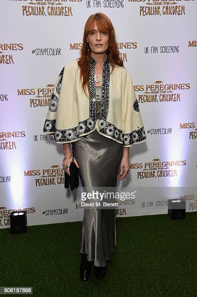 Florence Welch attends a UK Fan Screening of Miss Peregine's Home For Peculiar Children at The Soho Hotel on September 16 2016 in London England