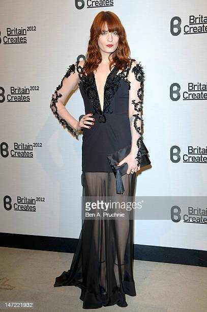 Florence Welch attends Britain Creates 2012 Fashion Art Collusion at Old Selfridges Hotel on June 27 2012 in London England