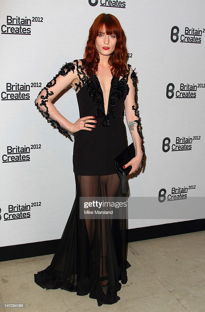 Florence Welch attends Britain Creates 2012: Fashion & Art Collusion VIP Gala at Old Selfridges Hotel on June 27, 2012 in London, England