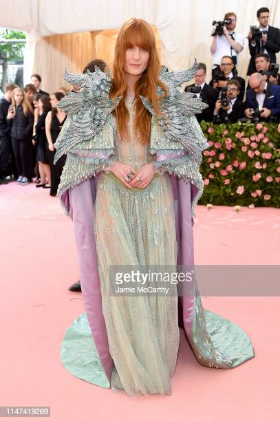 Florence Welch attends The 2019 Met Gala Celebrating Camp Notes on Fashion at Metropolitan Museum of Art on May 06 2019 in New York City