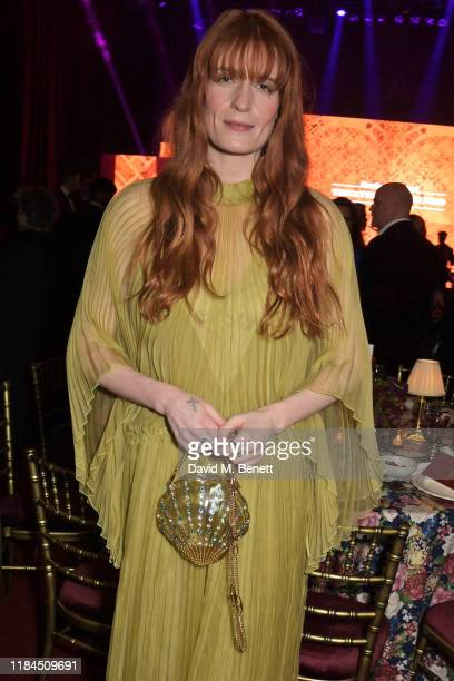 Florence Welch attends the 65th Evening Standard Theatre Awards in association with Michael Kors at the London Coliseum on November 24, 2019 in...