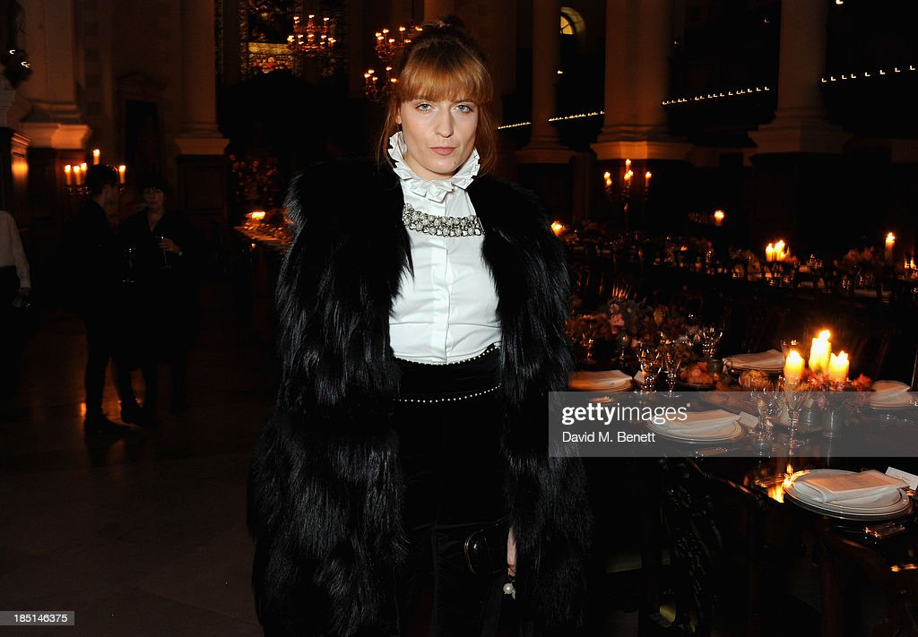 Florence Welch attends the Alexander McQueen and Frieze Dinner to celebrate the Frieze Art Fair 2013 on October 17, 2013 in London, England.