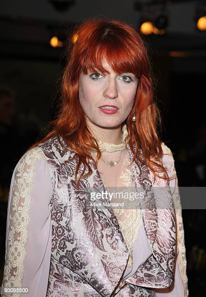 Florence Welch attends the Anglomania show by Vivienne Westwood at Selfridges on November 16 2009 in London England