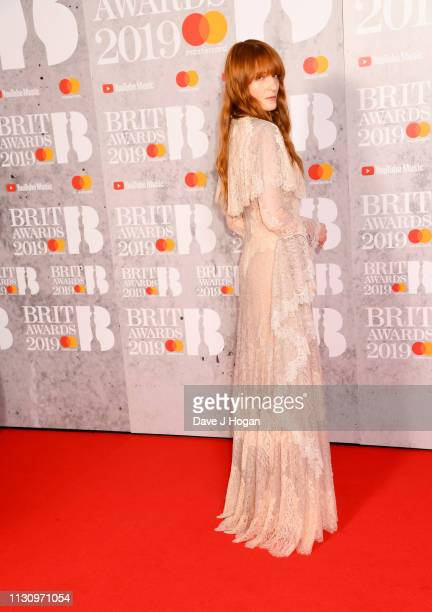 Florence Welch attends The BRIT Awards 2019 held at The O2 Arena on February 20 2019 in London England