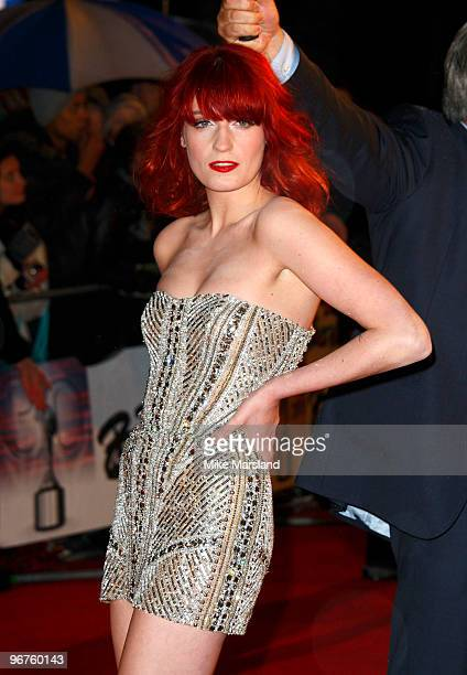 Florence Welch attends The Brit Awards at Earls Court on February 16, 2010 in London, England.