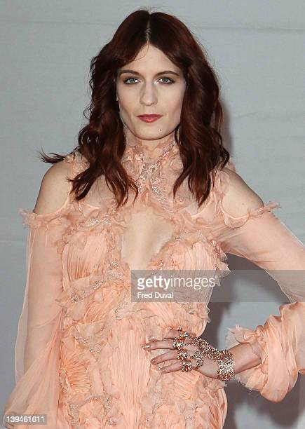 Florence Welch attends the Brits Awards 2012 at 02 Arena on February 21, 2012 in London, England.
