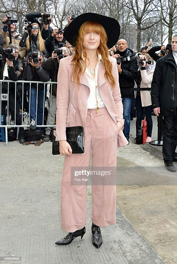 Florence Welch attends the Chanel show as part of the Paris Fashion Week Womenswear Fall/Winter 2015/2016 on March 10, 2015 in Paris, France.