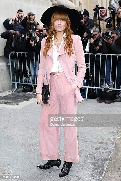 Florence Welch attends the Chanel show during Paris Fashion Week Fall Winter 2015/2016 on March 10 2015 in Paris France