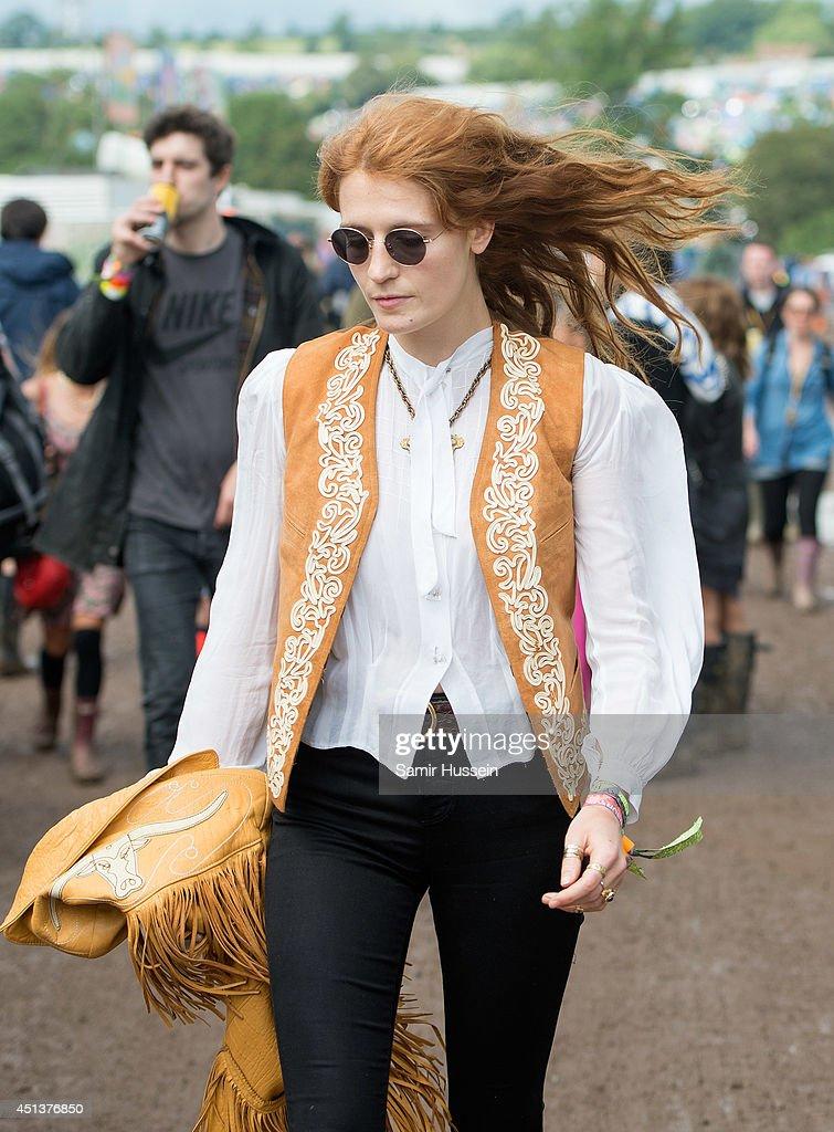 Celebrity Sightings At The Glastonbury Festival : News Photo