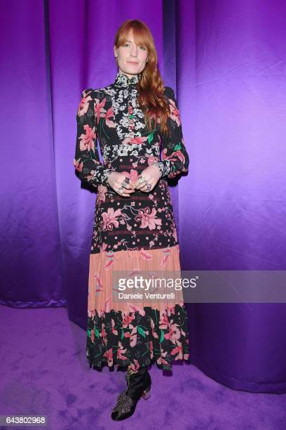 Florence Welch attends the Gucci show during Milan Fashion Week Fall/Winter 2017/18 on February 22 2017 in Milan Italy