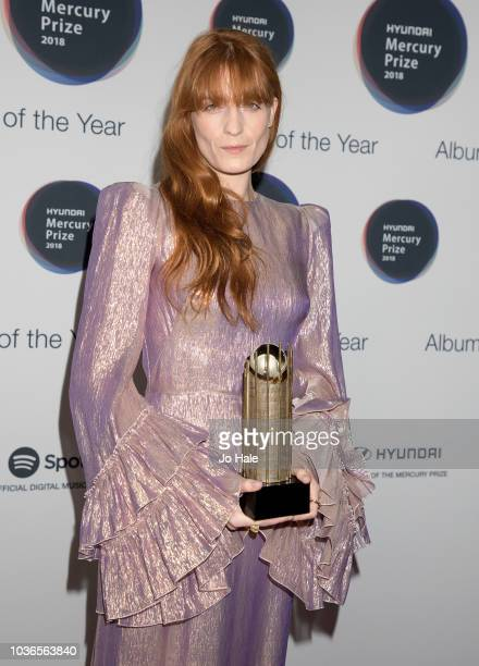 Florence Welch attends the Hyundai Mercury Prize 2018 at Eventim Apollo on September 20 2018 in London England