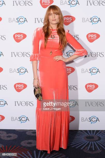 Florence Welch attends the Ivor Novello Awards at Grosvenor House on May 18 2017 in London England
