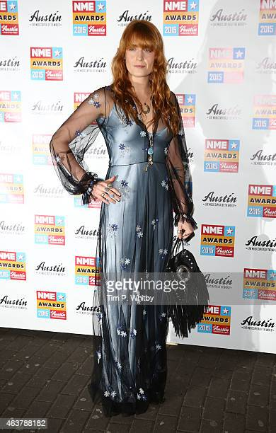 Florence Welch attends the NME Awards at Brixton Academy on February 18 2015 in London England