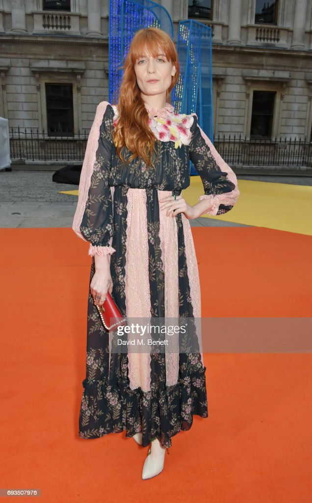Florence Welch attends the Royal Academy Of Arts Summer Exhibition preview party at Royal Academy of Arts on June 7, 2017 in London, England.