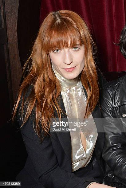 Florence Welch attends the Universal Music Bacardi Brits' After Party At Soho House PopUp on February 19 2014 in London United Kingdom