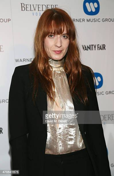 Florence Welch attends The Warner Music Group And Belvedere Brit Awards After Party In Association With Vanity Fair at The Savoy Hotel on February 19...