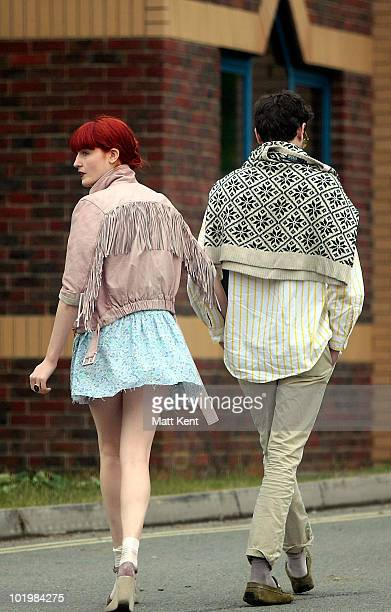 Florence Welch Backstage on day 1 of the Isle Of Wight Festival at Seaclose Park on June 11 2010 in Newport Isle of Wight