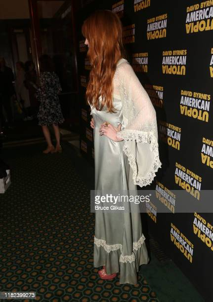 """Florence Welch fashion detail at the opening night of the new David Byrne Theatrical Concert Musical Experience """"American Utopia"""" on Broadway at The..."""