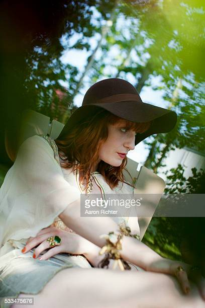 Florence Welch is photographed for Spin Magazine on June 10 2011 at Bonnaroo in Manchester Tennessee
