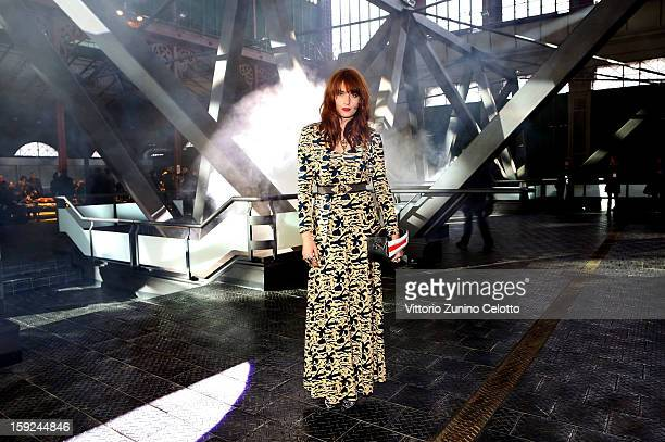 Florence Welch of Florence and the Machine attends Kenzo fashion show as part of Pitti Immagine Uomo 83 at Mercato Centrale on January 10 2013 in...
