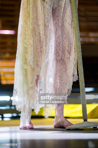Florence Welch of Florence And The Machine dress detail performs in concert at the Ericsson Globe Arena on March 11 2019 in Stockholm Sweden