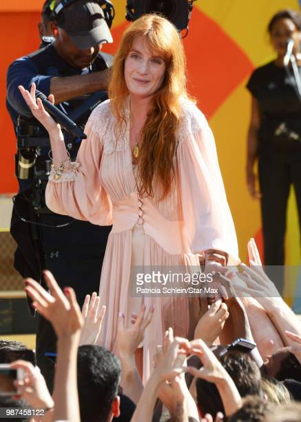 Florence Welch of Florence And The Machine is seen on June 29, 2018 in New York City performing in concert on Good Morning America.