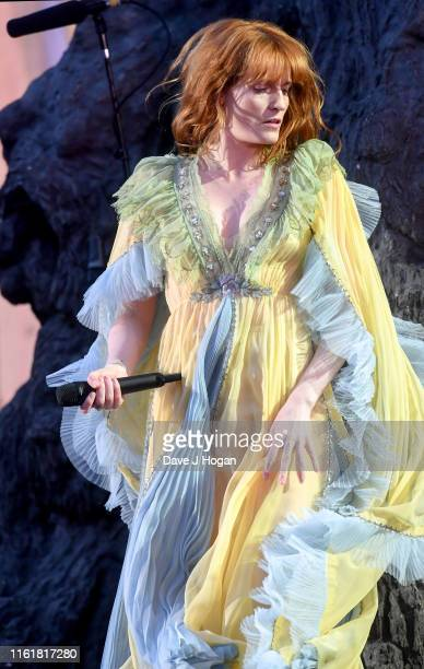 Florence Welch of Florence and the Machine perform at Barclaycard Presents British Summer Time Hyde Park at Hyde Park on July 13 2019 in London...