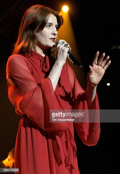 Florence Welch of Florence and the Machine performs as part of Live 105's Not So Silent Night at Oracle Arena on December 9, 2011 in Oakland,...