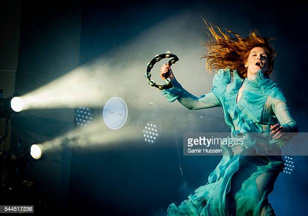 Florence Welch of Florence and the Machine performs as part of British Summer Time Festival at Hyde Park on July 2 2016 in London England