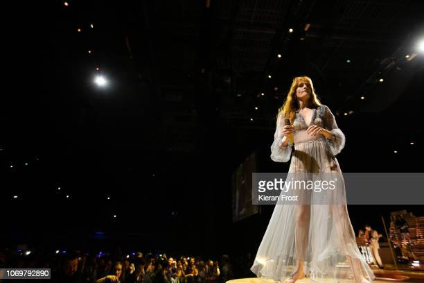 Florence Welch of Florence and the Machine performs at 3Arena Dublin on November 19 2018 in Dublin Ireland