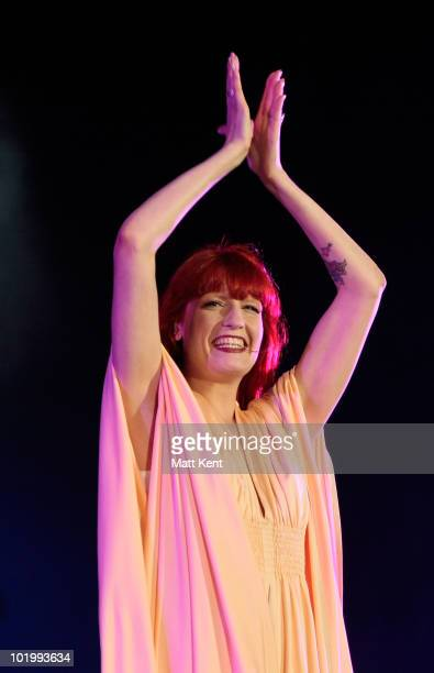 Florence Welch of Florence and the Machine performs at day 1 of the Isle Of Wight Festival at Seaclose Park on June 11 2010 in Newport Isle of Wight