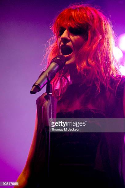 Florence Welch of Florence and the Machine performs at Day 3 of the Leeds Festival at Bramham Park on August 30 2009 in Leeds England