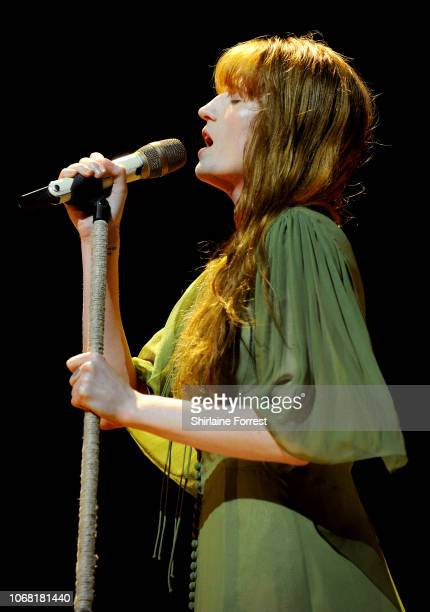 Florence Welch of Florence and the Machine performs at First Direct Arena Leeds on November 15, 2018 in Leeds, England.