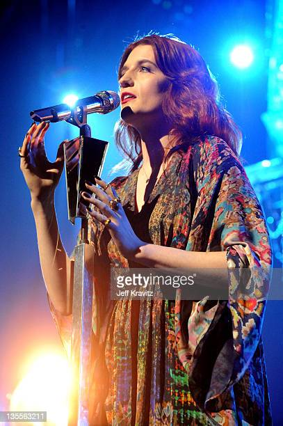Florence Welch of Florence and the Machine performs at Gibson Amphitheatre on December 11 2011 in Universal City California