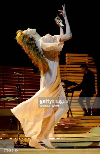 Florence Welch of Florence and the Machine performs at Manchester Arena on November 23, 2018 in Manchester, England.