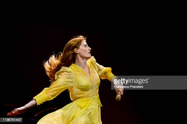 Florence Welch of Florence And The Machine performs at Pala Alpitour on March 18, 2019 in Turin, Italy.