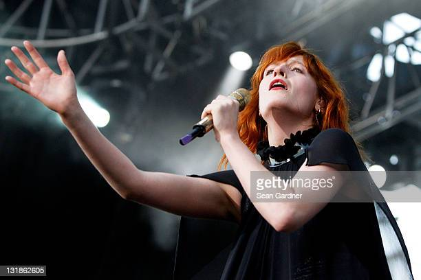 Florence Welch of Florence and the Machine performs at the 2010 Voodoo Experience on October 30 2010 in New Orleans Louisiana