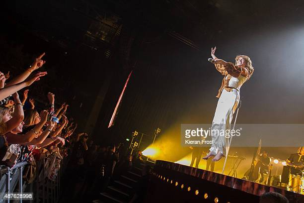 Florence Welch of Florence and the Machine performs at the 3Arena on September 10, 2015 in Dublin, Ireland.