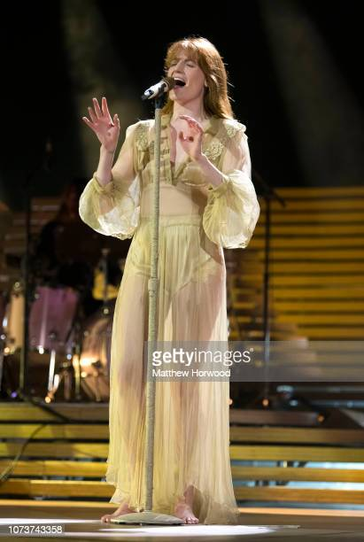 Florence Welch of Florence and the Machine performs at the Motorpoint Arena Cardiff on November 26 2018 in Cardiff Wales
