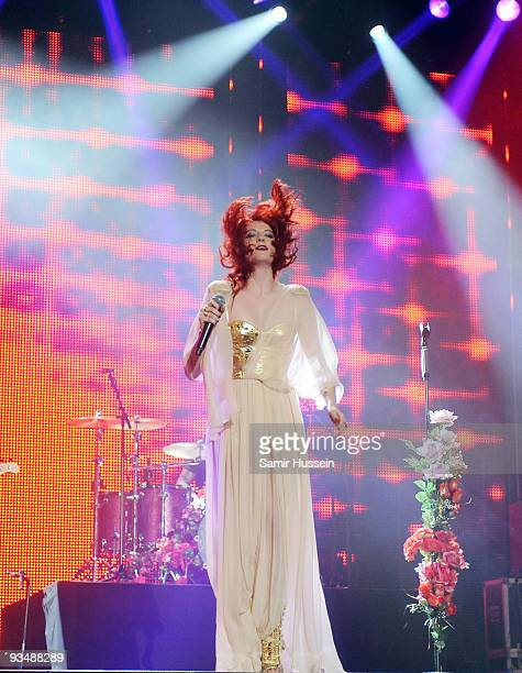 Florence Welch of Florence and the Machine performs at the T4 Stars of 2009 at Earls Court Arena on November 29, 2009 in London, England.