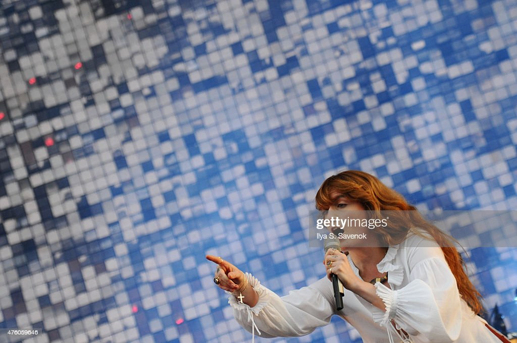 Florence Welch of Florence and the Machine performs during day 1 of the 2015 Governors Ball Music Festival at Randall's Island on June 5, 2015 in New York City.