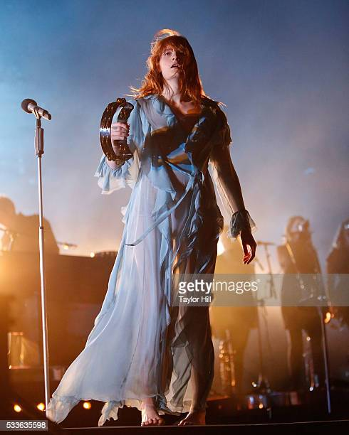Florence Welch of Florence and the Machine performs during the 2016 Hangout Music Festival on May 22, 2016 in Gulf Shores, Alabama.