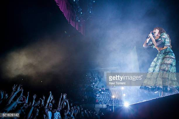 Florence Welch of Florence and the Machine performs in concert at Palau Sant Jordi on April 16 2016 in Barcelona Spain