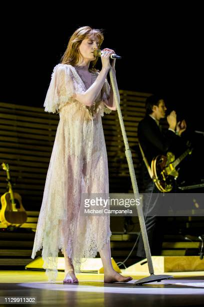 Florence Welch of Florence And The Machine performs in concert at the Ericsson Globe Arena on March 11 2019 in Stockholm Sweden